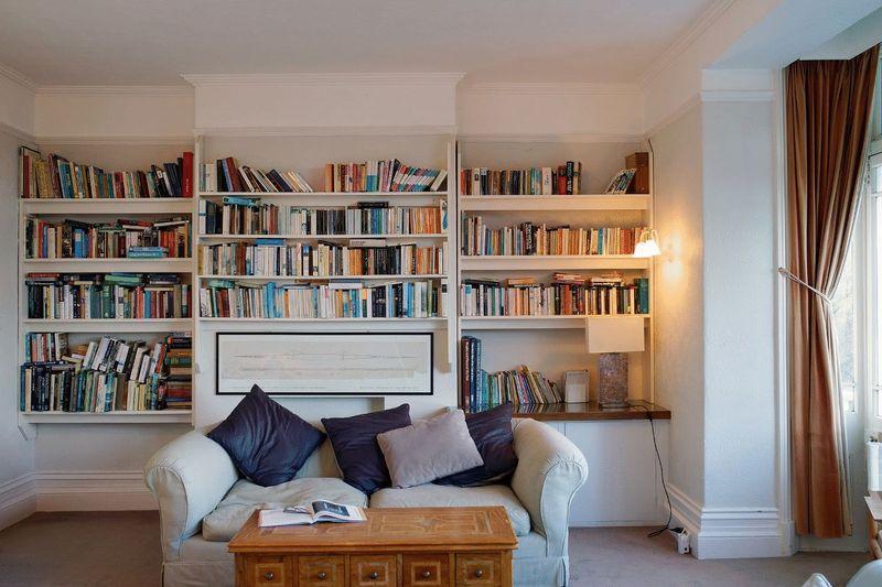 bookshelves in...