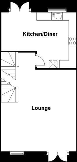 first floor, floor p