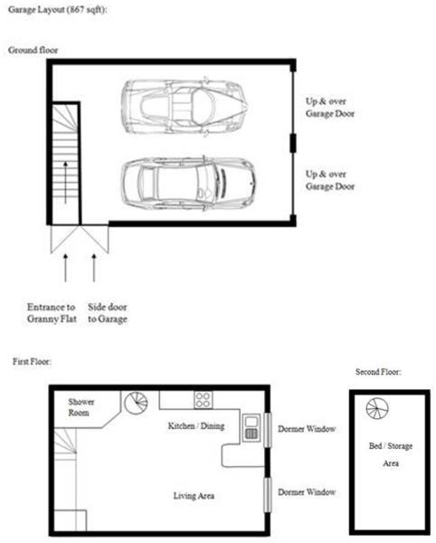 Garage and annex