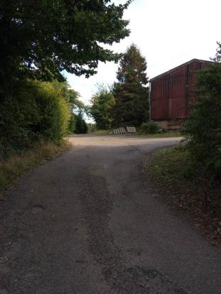 Entrance drive/barn