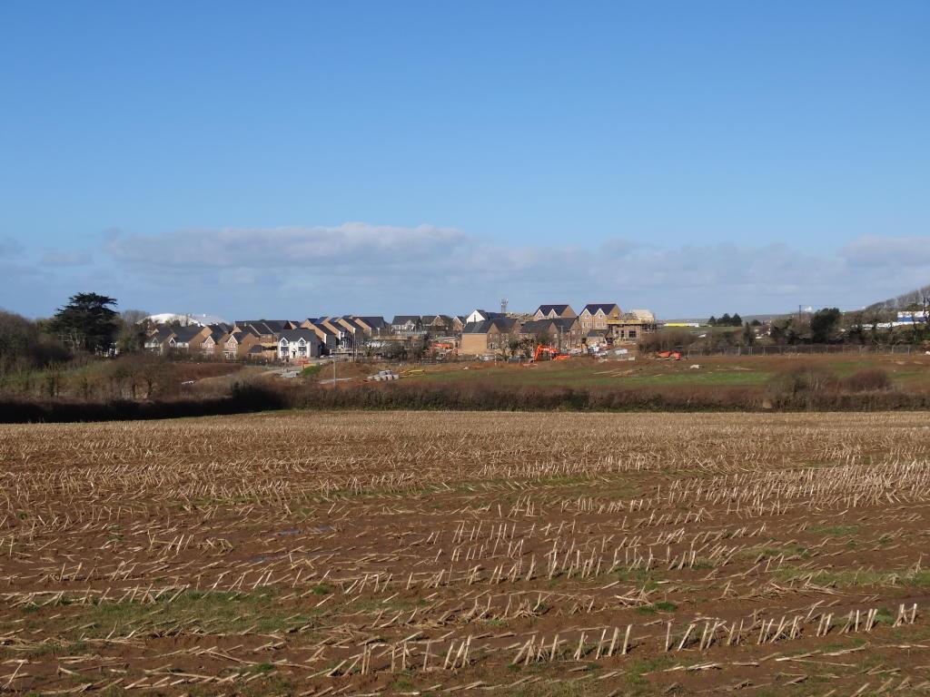View towards site