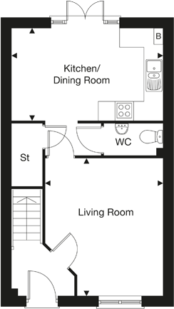 The Gosford ground floor plan