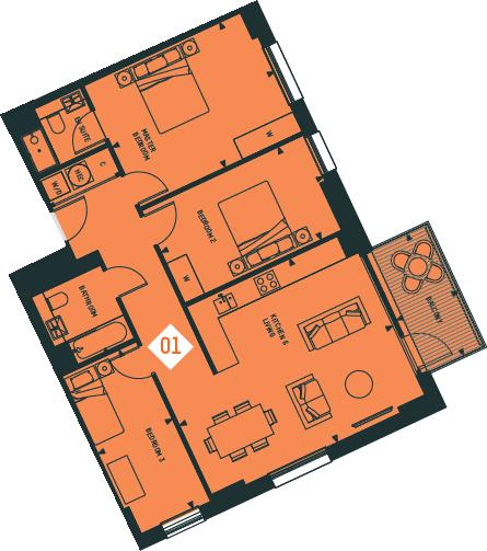 Apartment 1, 4F,CV