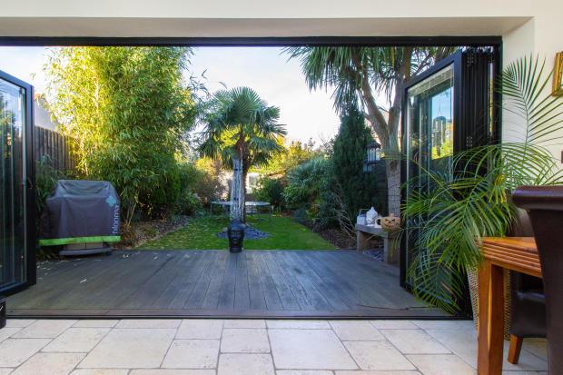 View towards garden