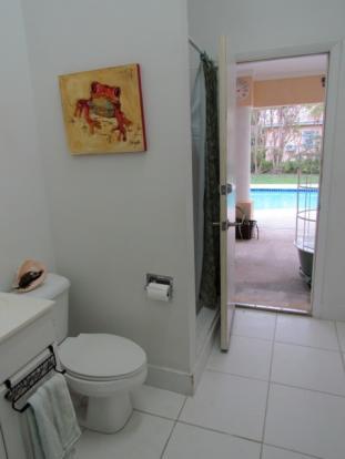 Pool bathroom