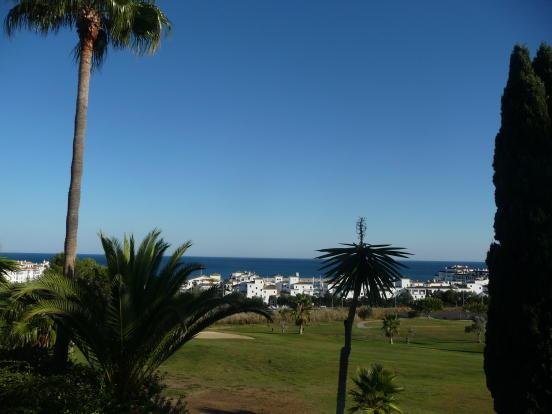 Sea and golf views