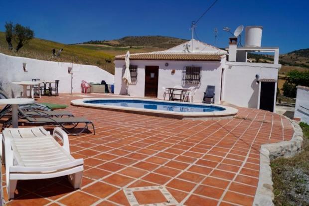 Big terrace with swimming pool