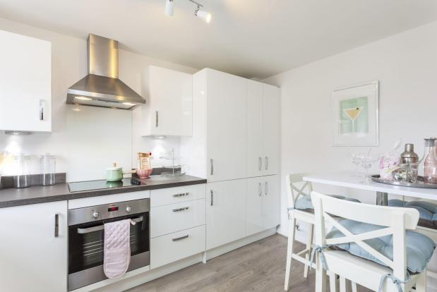 Typical Barwick fitted kitchen and breakfast area