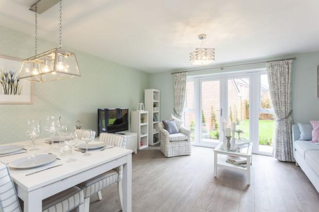 Typical Barwick lounge and dining area with French doors