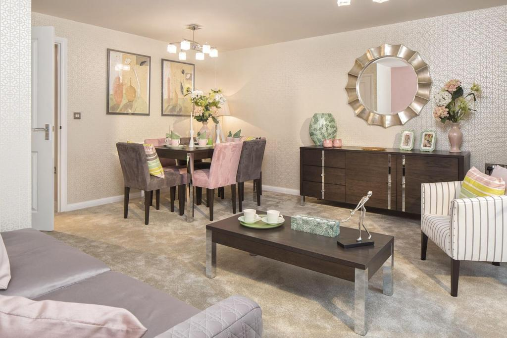 Typical Barwick open plan living and dining area