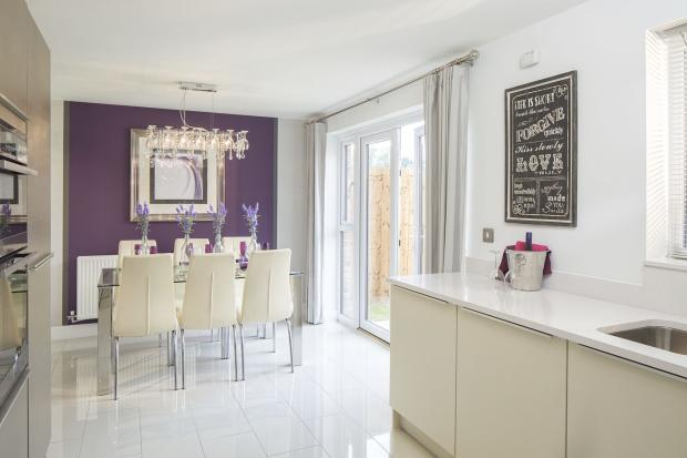 Typical Kington dining area to the fitted kitchen with French doors