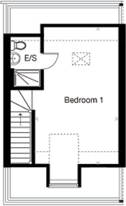 The Crofton G second floor plan