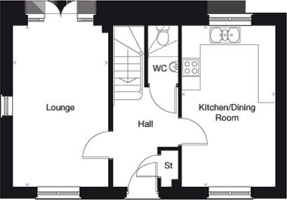 The Yewdale ground floor plan