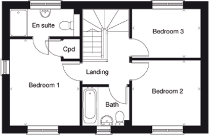 The Yewdale first floor plan