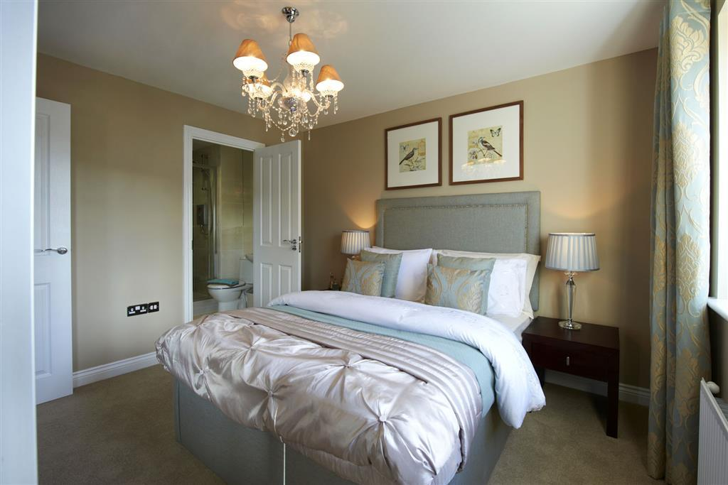 Image depicts typical Taylor Wimpey en suite bedroom