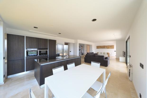 kitchen, living, din