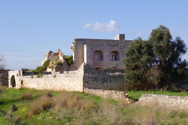 High stone walls