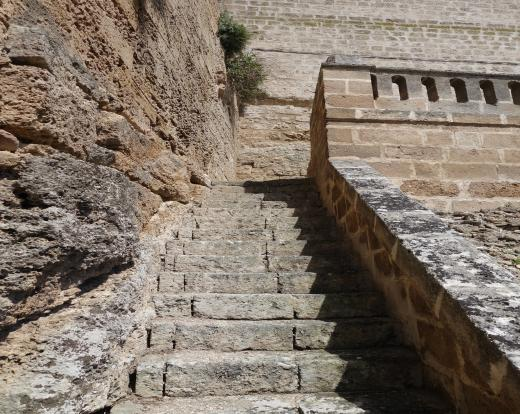 Stairs top terrace