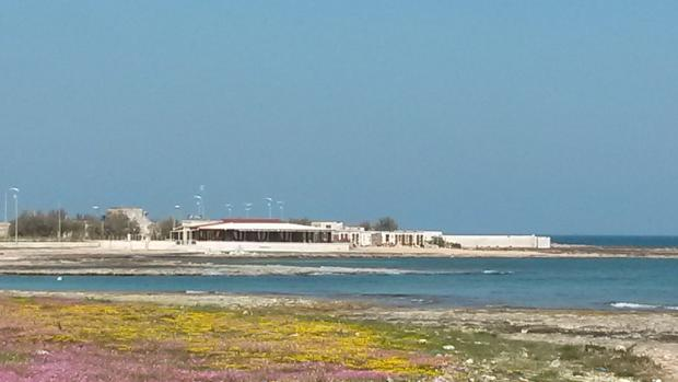 View to beach clubs