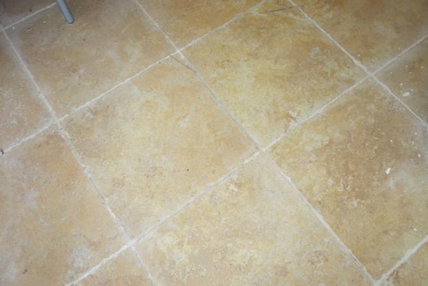 The floor tiles