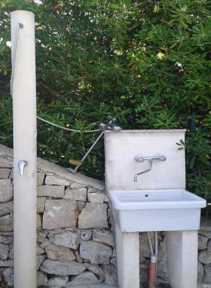 Outdoor sink shower