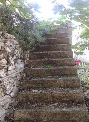 Stairs to villa terr