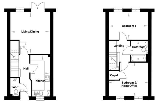2 Bedroom House Floor Plans