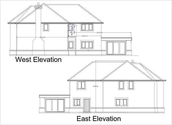 West &East Elevation