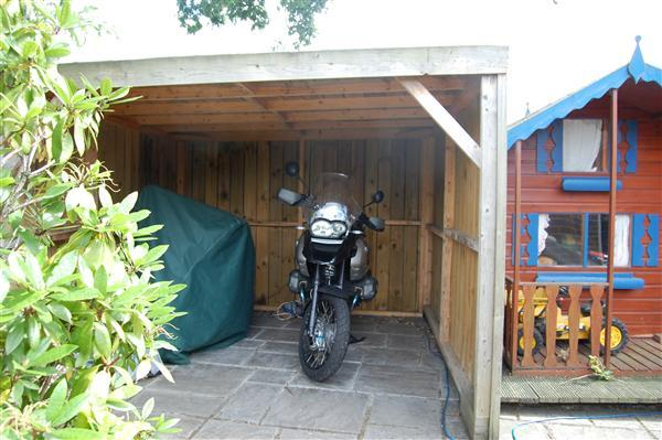Bike timber canopy