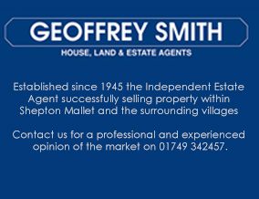 Get brand editions for Geoffrey Smith Estate Agent Ltd, Shepton Mallet