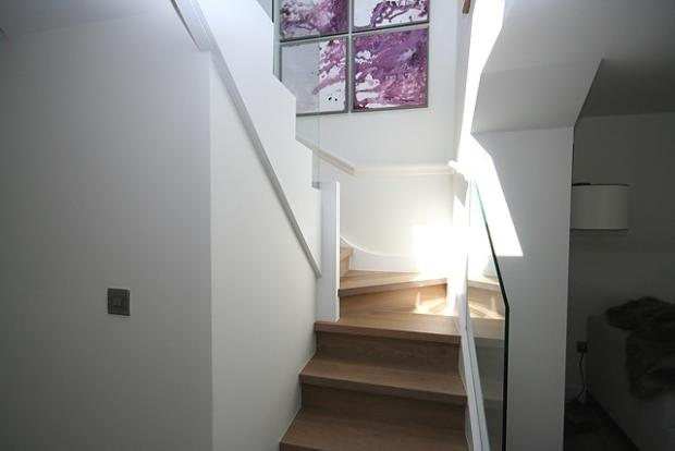 Stairs to kitchen