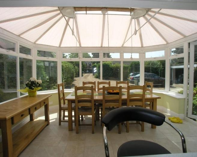 White conservatory dining room design ideas photos for Conservatory dining room decorating ideas