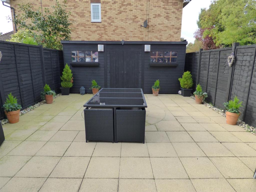Rear garden with out