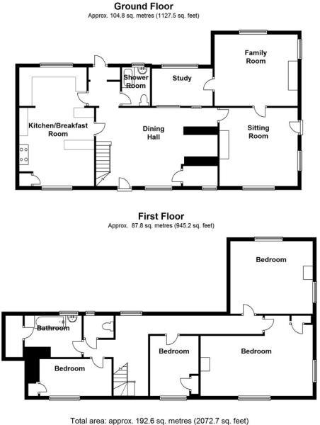 Flint Cottage-floorp