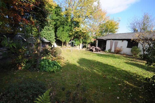 Rear gardens, garage