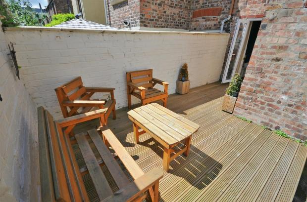 Rear decked patio