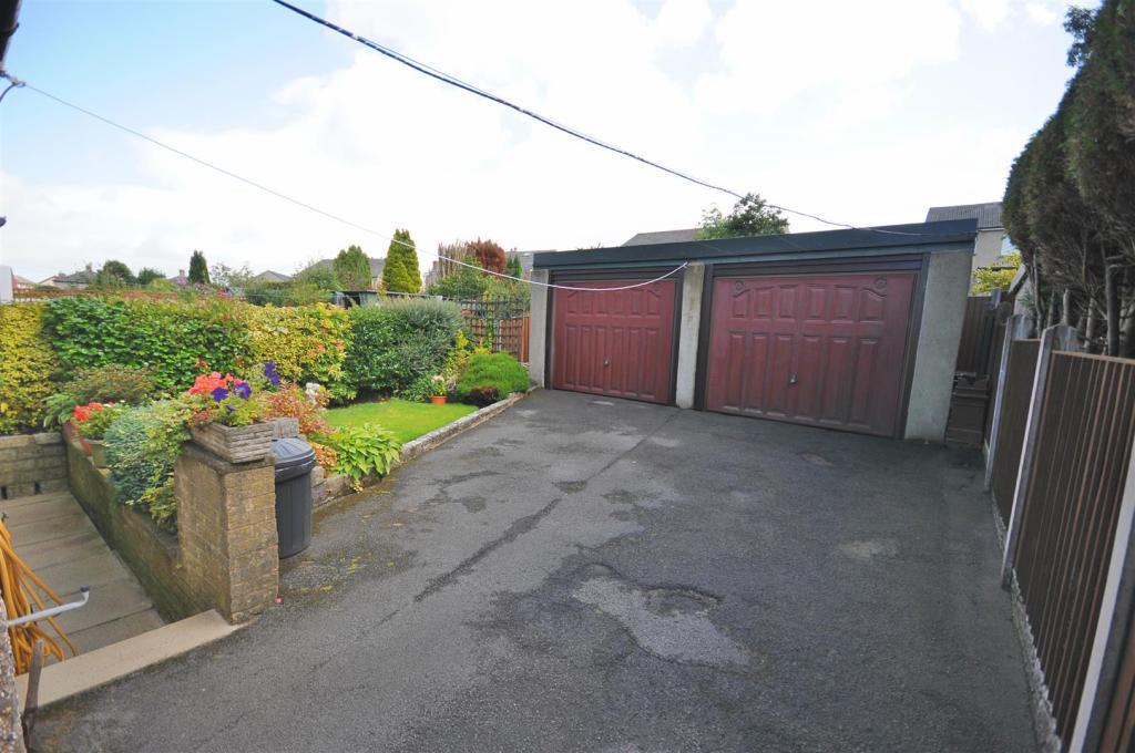 Rear garden & double