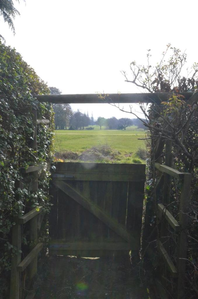 Gate to golf course