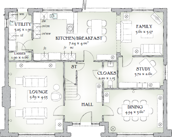 Highgrove house floor plan home design and style for Home design layout plan