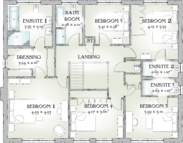 Highgrove House Floor Plan Interior