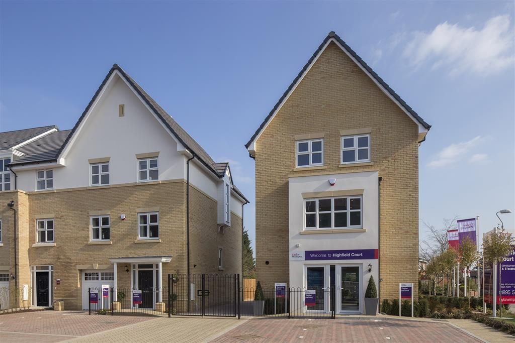 Image of the actual Sales Centre and Show Home at Highfield Court