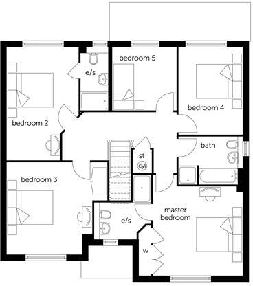 5 bedroom detached house for sale in the milldown for Blandford homes floor plans