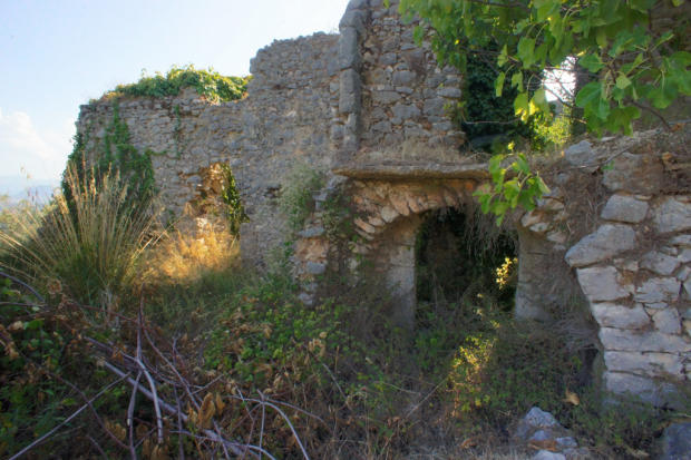 Ruined stone house