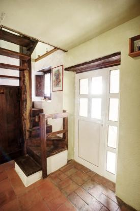 Antique wood stairs