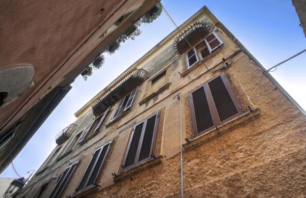 Old stone balconies