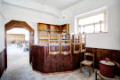 Built-in wood bar