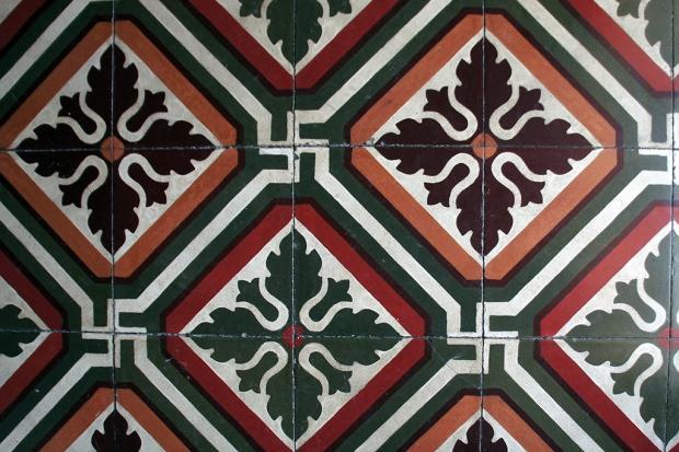 Antique floor tiles
