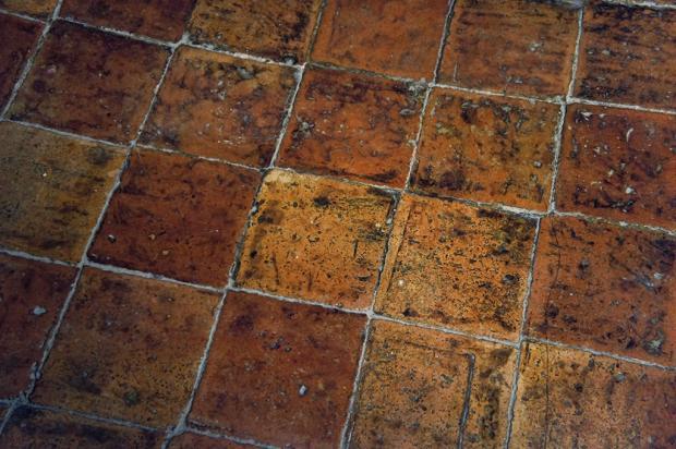Old terracotta tiles