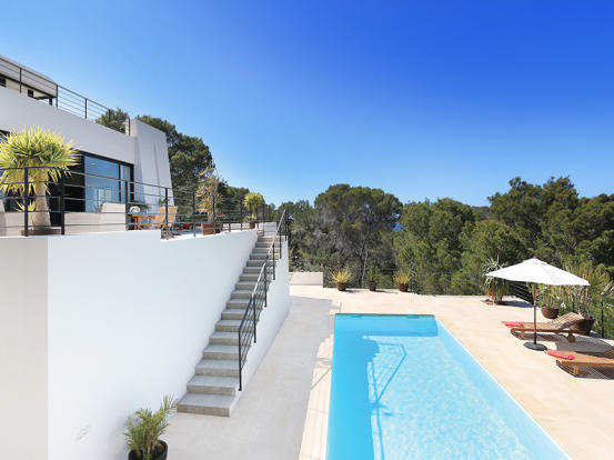 Pool area with some sea views