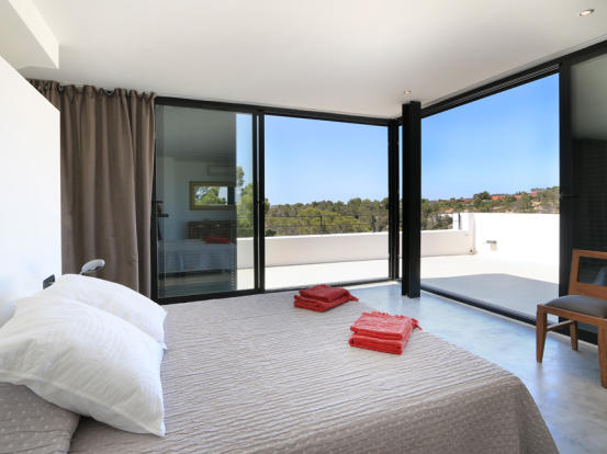 Terrace and nice views from the bedroom